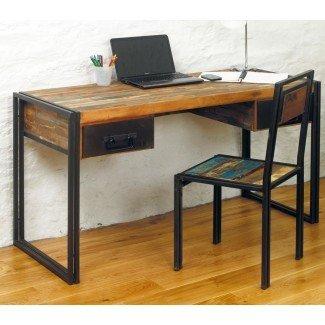 Urban Chic recuperó el escritorio de la computadora portátil de oficina de madera ...