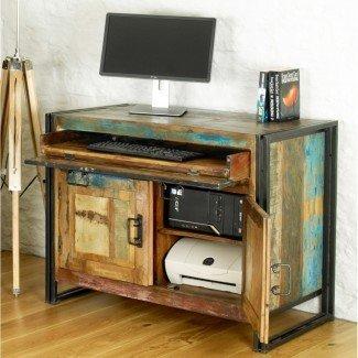 Escondite urbano elegante de muebles de oficina de madera recuperada sólida ...
