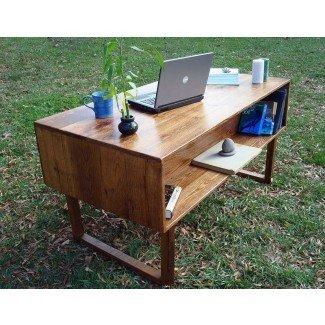 21 escritorios de oficina Cool Wood Reclaimed |
