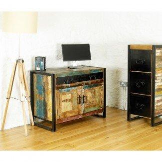 Escondite urbano elegante de muebles de oficina de madera sólida recuperada ...