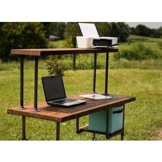 Escritorio de madera recuperada Escritorio de computadora Escritorio de oficina en casa Granero