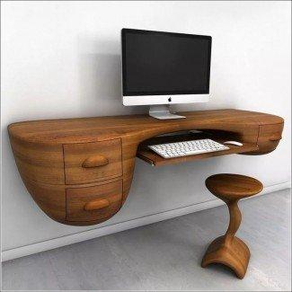 Más de 25 ideas sobre el escritorio de computadora montado en la pared en ...