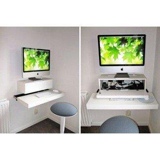 Ahorro de espacio: 22 escritorios montados en la pared para comprar o hacer bricolaje |