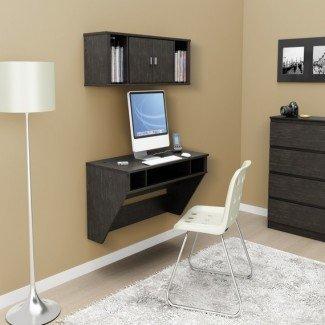 Muebles de oficina para el hogar, escritorio para computadora, escritorios flotantes de pared ...