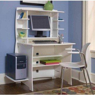 Muebles de computadora para espacios pequeños y dormitorio de escritorio ...