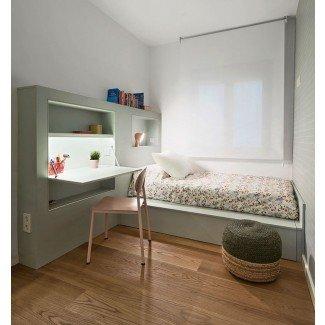 Muebles de cama empotrados en el escritorio: muebles de dormitorio pequeños