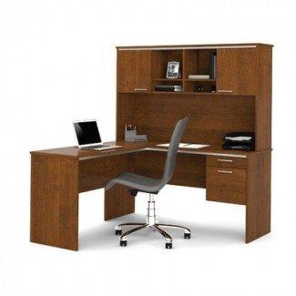 Bestar Flare 2 -Piece L-Shape Executive Desk Office Suite ...