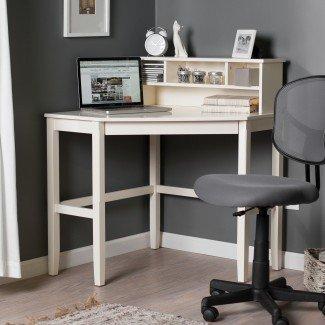 Escritorio de esquina para computadora portátil con gabinete opcional - Vainilla ...