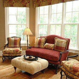 Ideas de la sala de estar en el campo francés Color moderno de color crema para la habitación ...