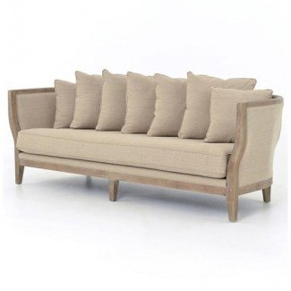 H Arcourt Sofá French Country Solid Oak White Wash