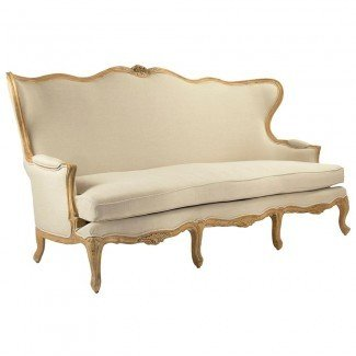 Sofá Vienne French Country Wing Back Beige | Kathy Kuo