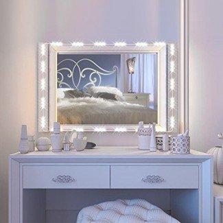IMAGE Vanity Mirror LED Light, 12.5FT 75 LED Bulbs UL Safety Standard Make up Mirror Kit de luz LED para espejo cosmético con regulador de intensidad - Blanco