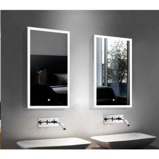 Espejo de tocador para baño iluminado con niebla LED