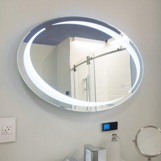 Espejo de vanidad LED ovalado Sol