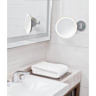 Espejo de tocador LED circular IP44 - 5 aumentos
