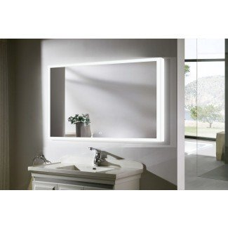Espejo de tocador para baño con luz LED Munich III