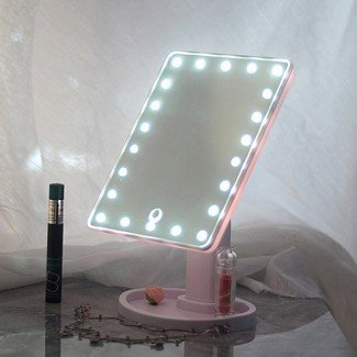 20 luces LED Espejo de maquillaje de vanidad con pantalla táctil iluminada ...