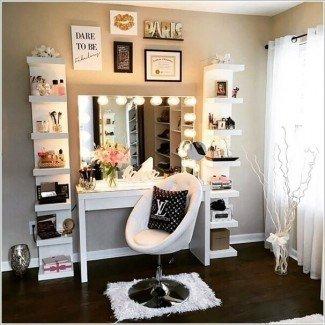 Mesa de tocador de maquillaje con luces Diy - Makeup Vidalondon