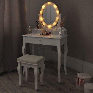 Mesa de maquillaje blanca y selección de tocador para tu habitación