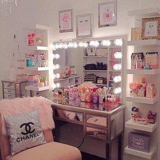Beauty Of Makeup Mesa de tocador con luces |