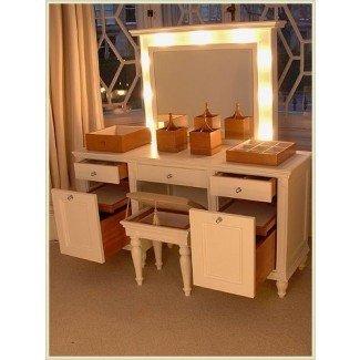 Dormitorio. Magnífico dormitorio vanidad con luces Ideas. Nu ...