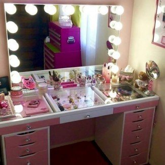 Mesa de tocador Beauty Of Makeup con luces |