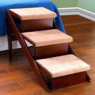 Escaleras baratas para cama para perros -