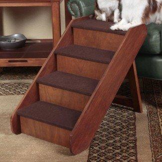 """PupStep 4 peldaños de madera para escaleras de 25 """""""