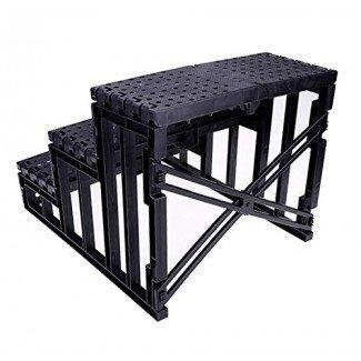 WOOKRAYS Escaleras para mascotas Rampa Pasos para perros para cama alta 3