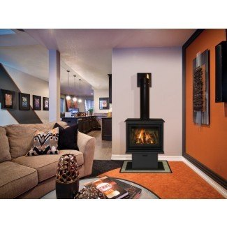 Chimenea de gas independiente: diseño de interiores