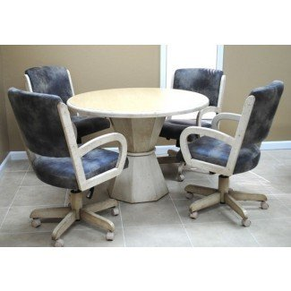 Tobias Designs - Comedor con mesa redonda 260 sillas con ruedas