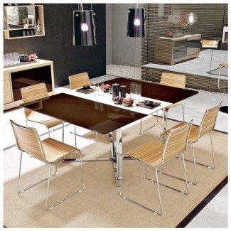 Mesa cuadrada de gran tamaño para mesa cuadrada para 6 cuadrados pequeños