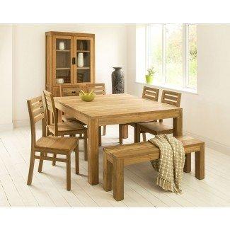 Mesas de comedor cuadradas   Mesa de cocina de teca de Mino