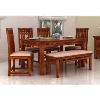 Mesa de comedor de 6 plazas en línea: mesa de comedor de seis plazas