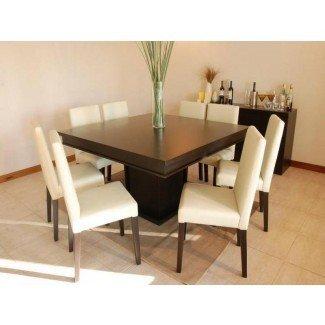 Mesa de comedor cuadrada simple y fresca para 8   Stroovi