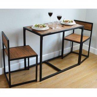 Mesa de comedor de cocina compacta para 2 personas que ahorra espacio ...