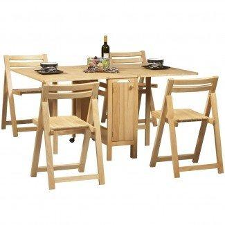 Juego de sillas de mesa de comedor que ahorra espacio - Espacio interior ...