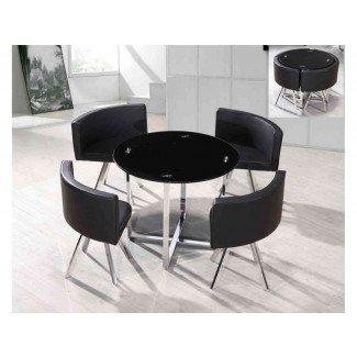 Elegante diseño de interiores de mesa y sillas de ahorro de espacio ...