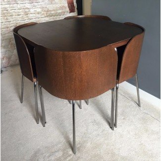 IKEA Fusion Compact, Space Saving, Dining Table & Chairs ...