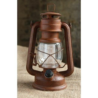 Linterna oxidada regulable estilo vintage con batería con ...