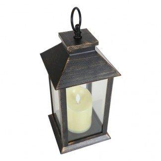 Linterna de vela parpadeante con luz LED (con batería)