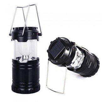 Linterna de camping recargable solar Unigear, LED portátil ...