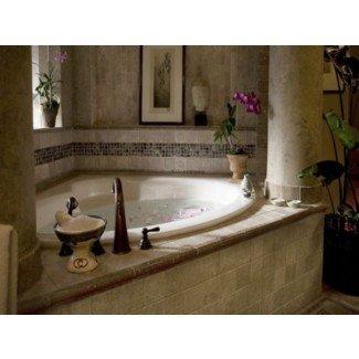 Baño de bañera, diseños de baño con bañera de esquina esquina ...