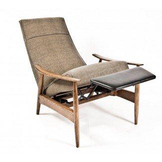 Sillón reclinable Milo Baughman en 1stdibs