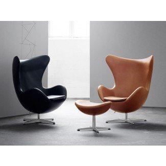 Compre la silla de salón Egg de Fritz Hansen - Cuero en