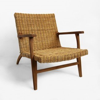 Mobiliario moderno de butaca de fibra natural | Muebles Mixtos