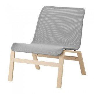 NOLMYRA Butaca Chapa de abedul / gris - IKEA