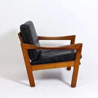 Par de sillones de los años 60 de Illum Wikkelso para Niels