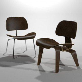 3ds max eames sillón de madera