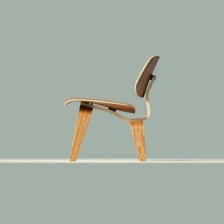 Modelo 3D Sillón Eames Wood LCW VR / AR